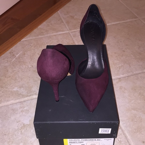 Vince Shoes - Vince Celeste Pomegranate Suede Pump, sz 9